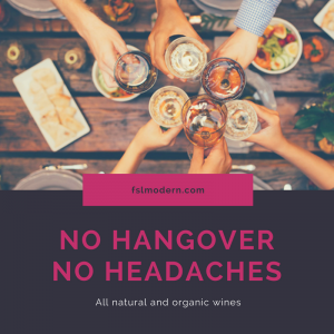No hangover, no headache wines