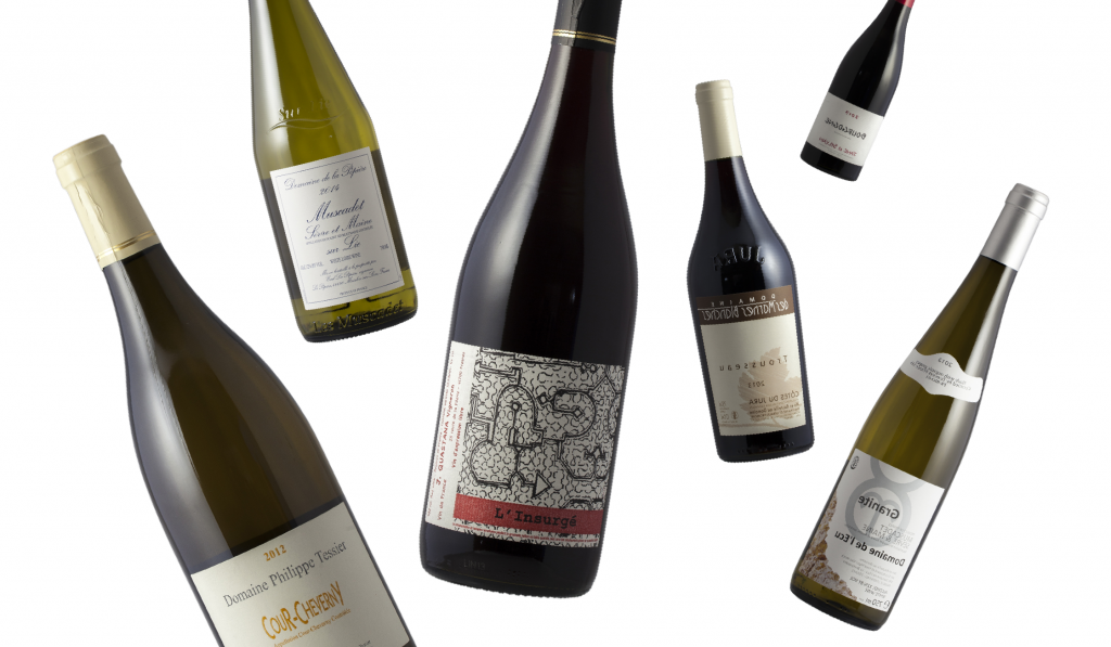 organic and natural wine bottles