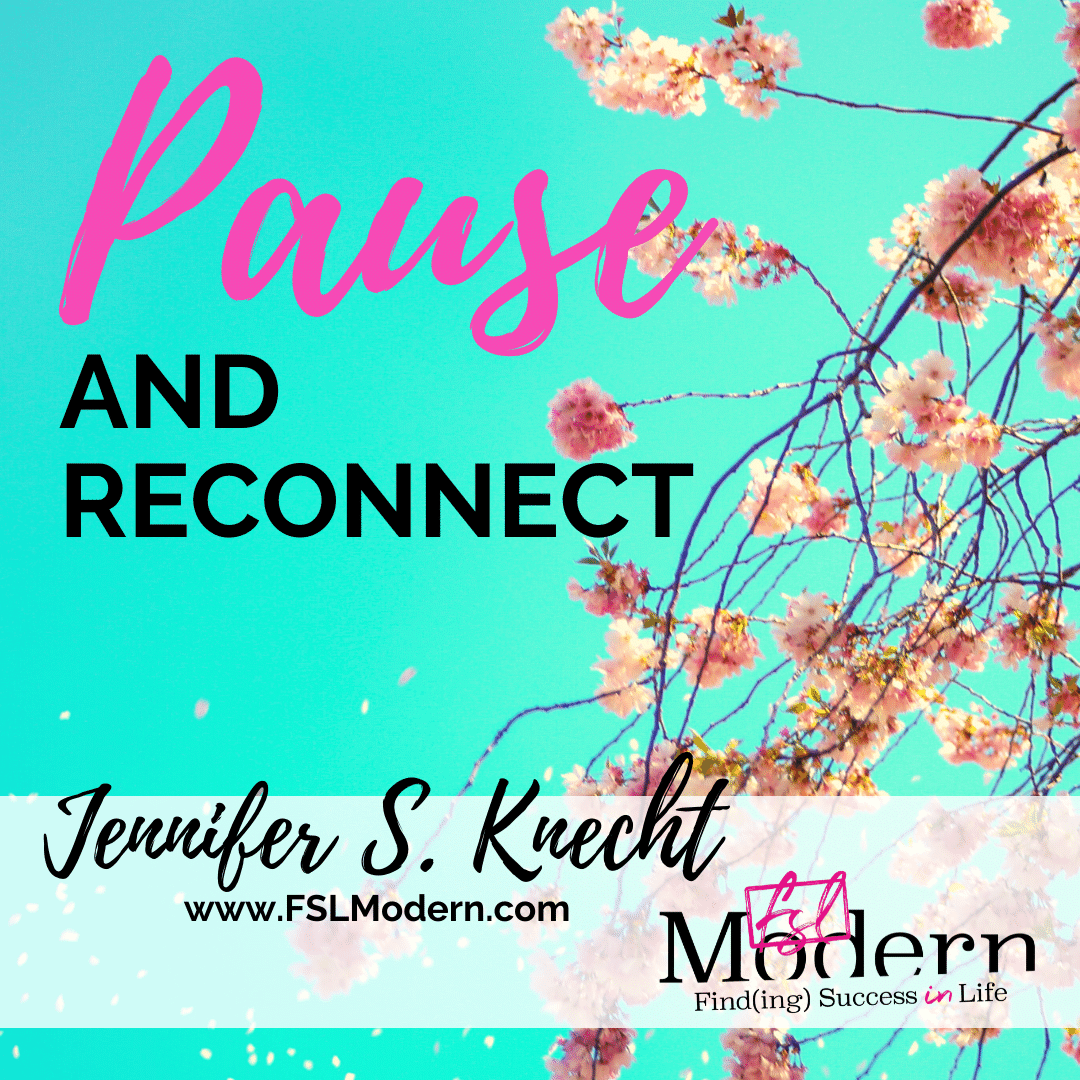 Pause and Reconnect in this time of crisis...